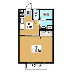 ヴェールヴィラージュSHIMIZU[2階]の間取り