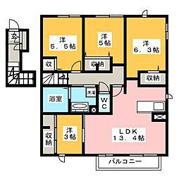 D-room寺塚 弐番館[2階]の間取り