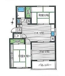 神奈川県座間市緑ケ丘3丁目の賃貸マンションの間取り