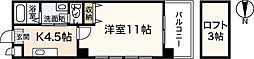 広島高速交通アストラムライン 伴駅 徒歩3分の賃貸マンション 4階1Kの間取り