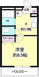 神奈川県横浜市西区伊勢町3丁目の賃貸アパートの間取り