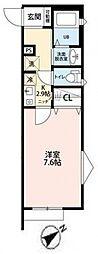サンクレール松戸[105号室号室]の間取り