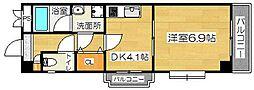 ステーションハイツ南茨木[7階]の間取り