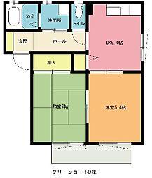 埼玉県上尾市小泉4丁目の賃貸アパートの間取り