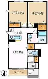 ミーラービレ 101[1階]の間取り