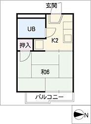 タウニィ元八事[2階]の間取り