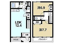 [テラスハウス] 奈良県生駒市小瀬町 の賃貸【奈良県 / 生駒市】の間取り