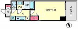 プレサンスOSAKA DOMECITYクロスティ(プレサンスオオサカドーム 12階1Kの間取り