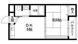 スミュー香枦園[205号室]の間取り