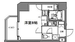 S-RESIDENCE大森山王 9階1Kの間取り
