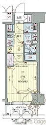 プレサンス梅田II 8階1Kの間取り