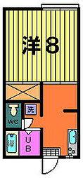 第二稲荷山ハイツB[2−E号室]の間取り