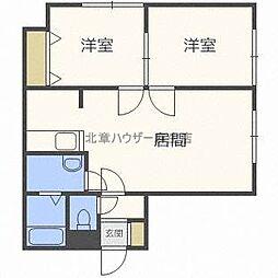 瀬比亜館太平[2階]の間取り