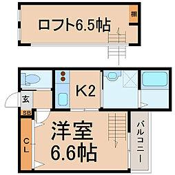 愛知県名古屋市中村区大日町の賃貸アパートの間取り