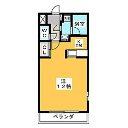 Ritz Residence C棟[2階]の間取り