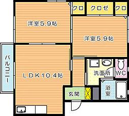 メゾンファミリア A棟[2階]の間取り