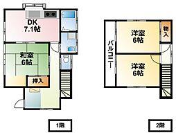 [一戸建] 千葉県市原市君塚1丁目 の賃貸【/】の間取り