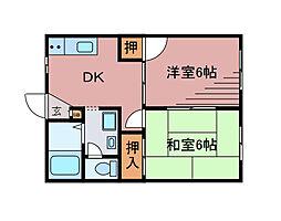 メゾンモアノ[2階]の間取り