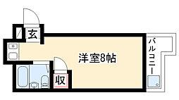三松ハイツ[305号室]の間取り