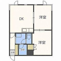 北海道札幌市西区山の手二条6丁目の賃貸マンションの間取り