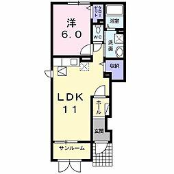 トライブC[1階]の間取り