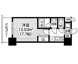 S−RESIDENCE福島Luxe[1305号室]の間取り