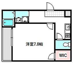 Osaka Metro谷町線 守口駅 徒歩6分の賃貸アパート 2階1Kの間取り