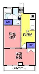 オリエンテ大和田[403号室]の間取り