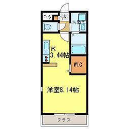 南海高野線 河内長野駅へ16分 アンプルールクラージュサピエ[101号室]の間取り