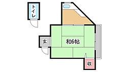 兵庫県神戸市灘区新在家北町2丁目の賃貸マンションの間取り