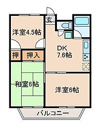 森ケ丘第五マンション[2階]の間取り