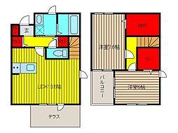 クレマチス・シモナ[1階]の間取り