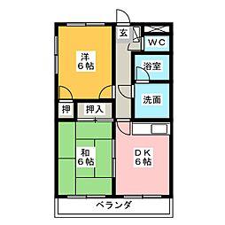 プランドール藤井[3階]の間取り