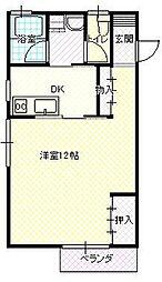 JR山形新幹線 山形駅 バス32分 青柳街道下車 徒歩1分の賃貸アパート 2階1DKの間取り