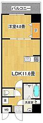 MANDARIN COURT 深井駅前 5階1LDKの間取り