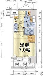 セオリー大阪ベイステージ 7階1Kの間取り