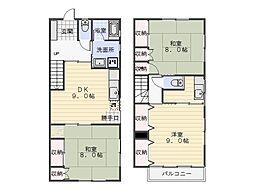 鴨居2丁目アパート[101号室]の間取り