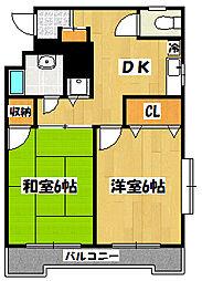 フェリーチェ本八幡[6階]の間取り