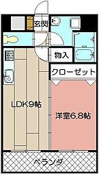メゾンドポラリス(熊西)[5階]の間取り