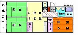 福岡県福岡市東区多々良2丁目の賃貸マンションの間取り