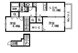 ソフィアA・B[2階]の間取り