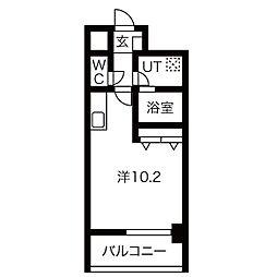 アレーヌコート野並(アレーヌコートノナミ) 8階1Kの間取り