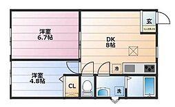 シュガーハイム[2階]の間取り
