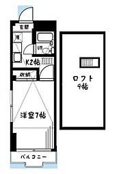 イーハトーブ磯子[3階]の間取り