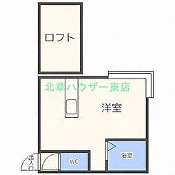 北海道札幌市東区北十九条東10丁目の賃貸アパートの間取り