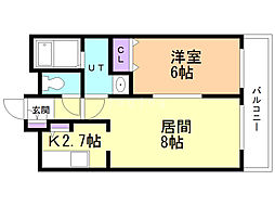 EM7(イーメジャーセブン) 1階1LDKの間取り