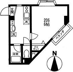 コート・成城南[2階]の間取り