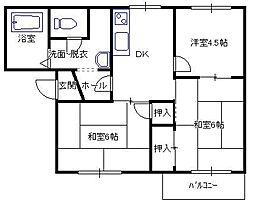 TOWNY塚本[1階]の間取り