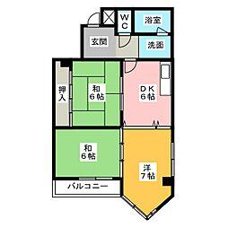 フルーヴェ1番館[4階]の間取り