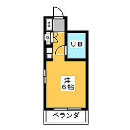 K Stage Hara[3階]の間取り